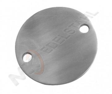 Edelstahl Bodenplatte voll Ø100x6 mm, 2Loch