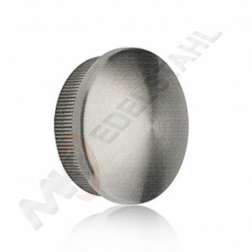 Edelstahl Endkappe gewölbt 42,4mm