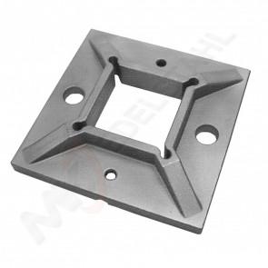 Edelstahl Grundplatte 100x100mm für Pfosten 40x40mm