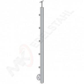 Pfosten Ø42,4mm, h=1000mm, Handlaufhalter flexibel Ø42,4mm