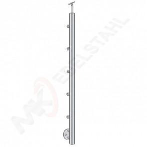 Pfosten Ø42,4mm, h=1000mm, Handlaufhalter flexibel Ø42,4mm, für Stiege