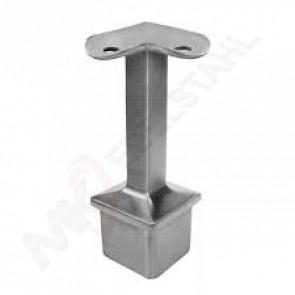 Handlaufhalter Square 40x40x2mm, Handlauf 42,4mm Eckmontage