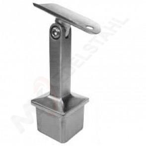 Handlaufhalter 40x40x2mm, Handlauf Ø42,4mm flexibel